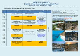 AKDENIZ UNIVERSITY 2015/2016 Winter Semester International