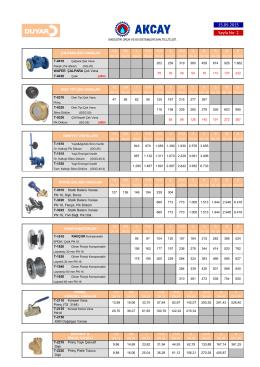 02-DUYAR / VANALAR – çek vana, emniyet ventili, kompansatör