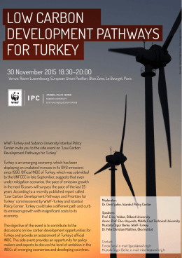 LOW CARBON DEVELOPMENT PATHWAYS FOR TURKEY