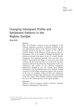 Changing Immigrant Profile and Settlement Patterns in the Nigbolu