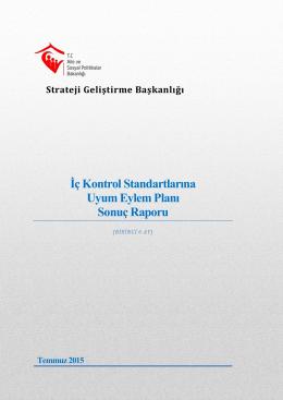 İç Kontrol Standartları Eylem Planı (Ocak-Haziran 2015)