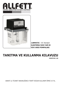 LUBMATIC DC standart tip pompa