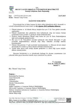 Ödenek Talep Formu e-imzalıdır Prof. Dr. Orhan KARSLI Rektör VTC