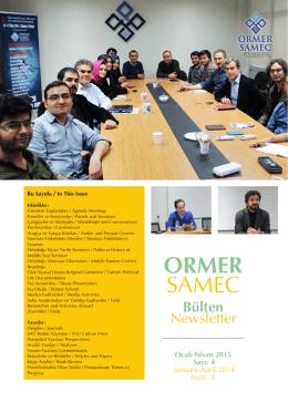 1 ORMER SAMEC - Sakarya Üniversitesi