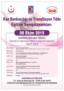 08 Ekim 2015 Sempozyum Programı