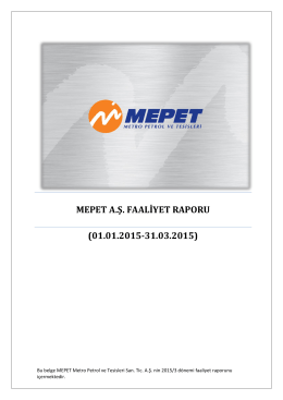 mepet a.ş. faaliyet raporu