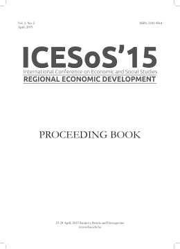 ICESoS`15 -Proceedings Book, ss. 252