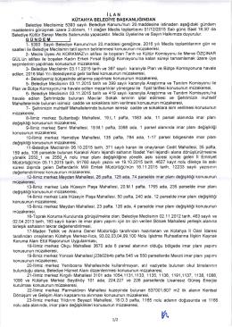 belediye meclisinin 01.12.2015 tarihli 2. dönem 11. olağan toplantısı