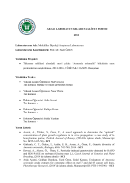 2014 Raporu - Kocaeli Üniversitesi Ar