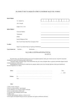 Ücretli Öğretmenlik Başvuru Formu - PDF