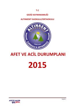 AFAD - Altınkent İlkokulu
