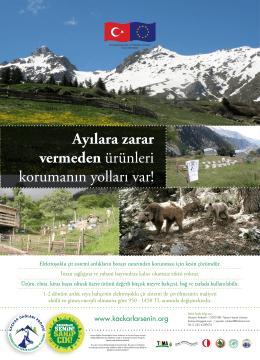 Yaban hayvanlarından korunma posteri için tıklayınız.