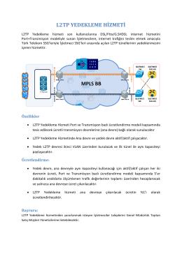 L2TP YEDEKLEME HİZMETİ - Türk Telekom Kurumsal