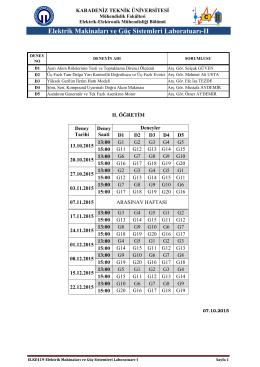 ıı. öğretim - KTÜ Elektrik-Elektronik Mühendisliği