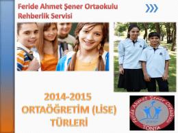 Ortaöğretim (Lise) türleri tanıtım semineri
