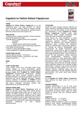 Capatect Isı Yalıtım Sistem Yapıştırıcısı