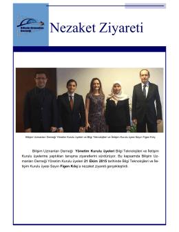 Bilişim Uzmanları Derneği Yönetim Kurulu üyeleri 21 Ekim 2015