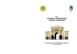 Fakülte Kuruluş Yıldönümü Bölüm Toplantısı Panel Programları