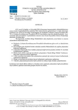 Yüksekte Çalışma ve Çalışma Koordinasyonu Prosedürleri