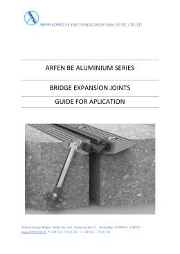 ARFEN BE ALUMINIUM SERIES BRIDGE EXPANSİON JOINTS