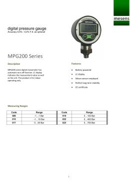 MPG200 Series