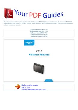 Kullanma talimati MIO C710