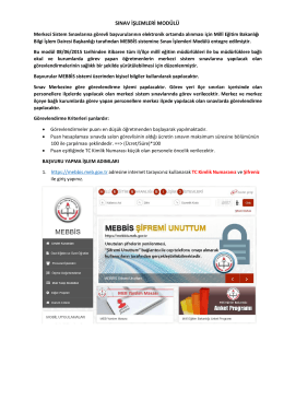 sınav işlemleri modülü - Sivas İl Milli Eğitim Müdürlüğü