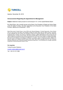 Announcement Regarding the Appointment to Management