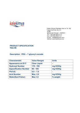 PRODUCT SPECIFICATION TEQ HE