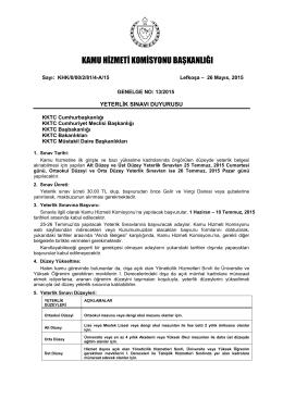Yeterlik Sınavları - Kamu Hizmeti Komisyonu