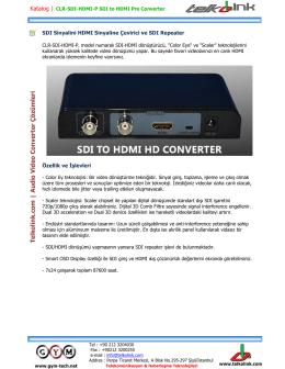 Telkolink | CLR-SDI-HDMI-P SDI