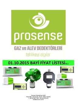 Prosense Güncel Fiyat Listesini İndirmek İçin Lütfen Tıklayın!!!