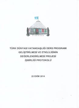türk dünyasi vatandaşliği ders programi geli̇şti̇ri̇lmesi̇ ve