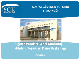 SGK-İstihdam Teşvikleri