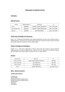 Doç.Dr. Arzuhan Burcu GÜLTEKİN - Ankara Üniversitesi Uygulamalı