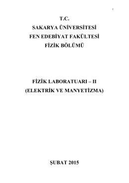 elektrik ve manyetizma - Fizik Bölümü