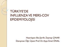 Türkiye`de İnfluenza ve MERS-CoV