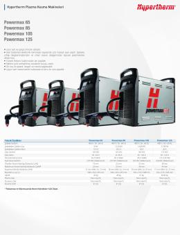 Powermax 65 Powermax 85 Powermax 105