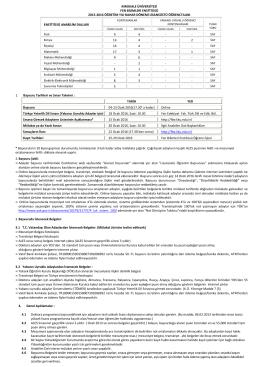 2015-2016 öğretim yılı bahar dönemi lisansüstü öğrenci ilanı