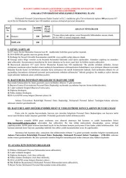 ankara üniversitesi sözleşmeli personel alım ilanı