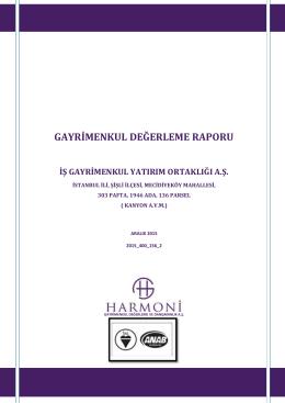 harmoni gayrimenkul değerleme ve danışmanlık a.ş.aporu