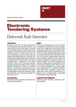 Elektronik İhale Sistemleri