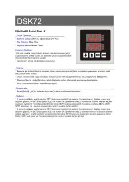 Dijital Sıcaklık Control Cihazı