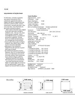 FLC-80 AKIŞ KONTROL VE ÖLÇÜM CİHAZI Teknik Özellikler FLC
