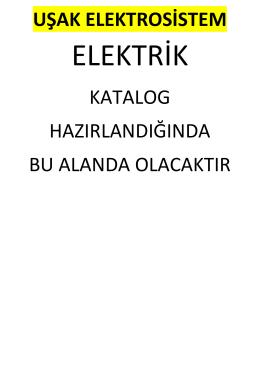 Katalog - Uşak ElektroSistem Elektrik
