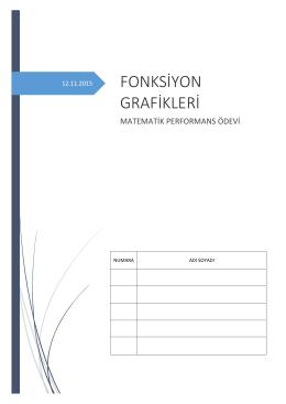 FONKSİYON GRAFİKLERİ