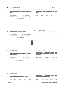 modüler aritmetik kartezyen