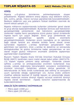 TOPLAM NĐŞASTA-05 AACC Metodu (76-13)