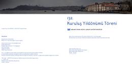 132. Kuruluş Yıldönümü Töreni - Mimar Sinan Güzel Sanatlar