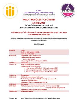 MALATYA BÖLGE TOPLANTISI 5 Eylül 2015